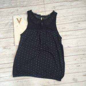 American Eagle Outfitters Tops - american eagle womens s navy polka dot tank top pe
